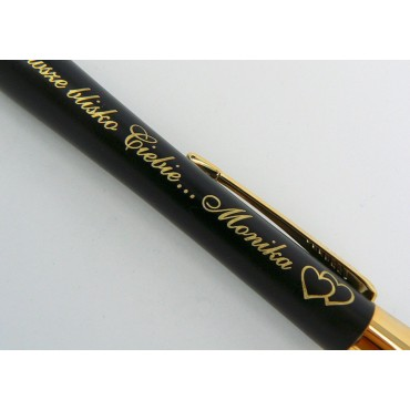Długopis Parker Urban GT (złoty) - pudełko drewniane + tabliczka - personalizowany.