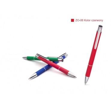 Długopis aluminiowy seria - Zoe - matowy, gumowany - idealny pod grawer laserowy.