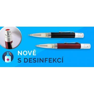 Długopis z płynem dezynfekującym.