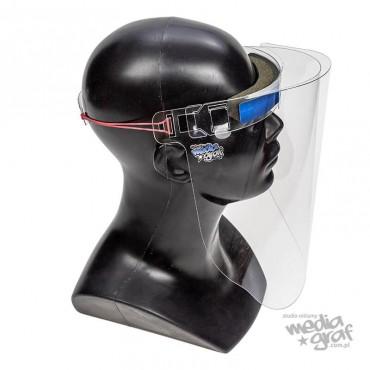 Przyłbica ochronna (osłona) na twarz - wielokrotnego użytku - wersja komfort - P012.