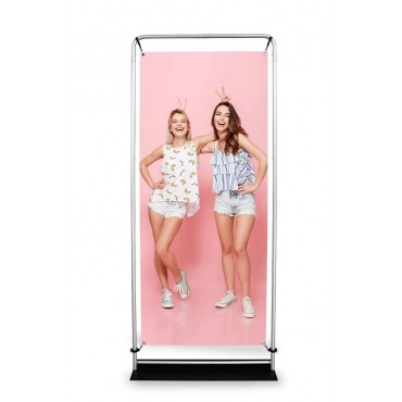 Stand reklamowy dwustronny do prezentacji produktów firmowych - Atlantis Expo 2.