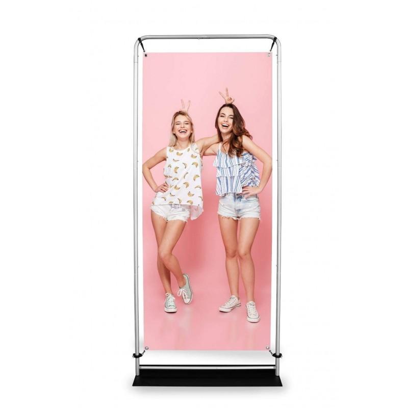 Stand reklamowy dwustronny do prezentacji produktów firmowych - Atlantis Expo 2 - 90 x 230cm.