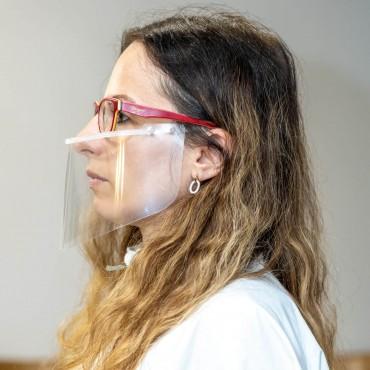 Półprzyłbica (mini przyłbica) ochronna (osłona) na usta i nos - wielokrotnego użytku - PP013.