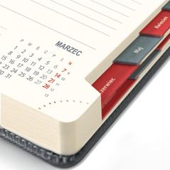 Kalendarz książkowy Dzienny - A5 – Exclusive Butelkowa zieleń i szmaragdowy.