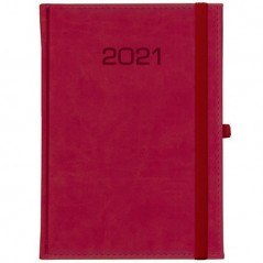 Kalendarz książkowy Tygodniowy - B5 – Classic z gumką -czerwony