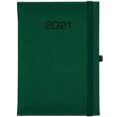 Kalendarz książkowy Tygodniowy - B5 – Classic z gumką -zielony