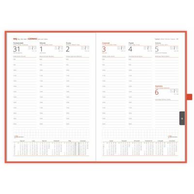 Kalendarz książkowy Tygodniowy - B5 – Classic z gumką.