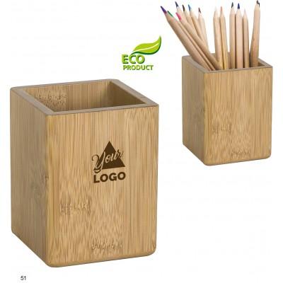 Bambusowy stojak na długopisy - idealny pod grawer laserowy.