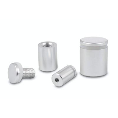 Dystans aluminiowy (srebrna satyna) - 13x13