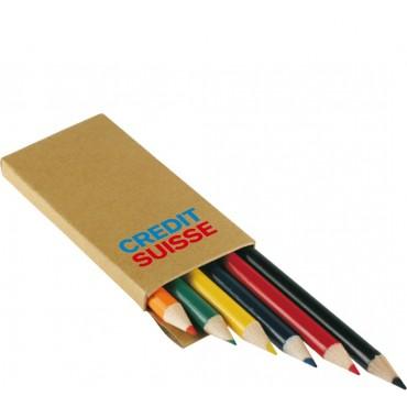 Krótkie kredki drewniane w kartonowym opakowaniu Pencil Color