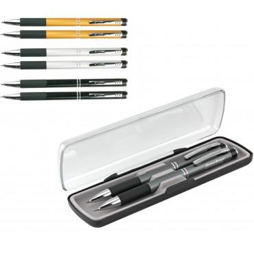 Zestaw długopis+ołówek aluminiowy Daphne