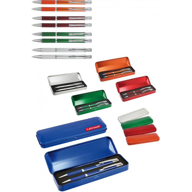 Zestaw długopis + ołówek w metalowym opakowaniu Adat