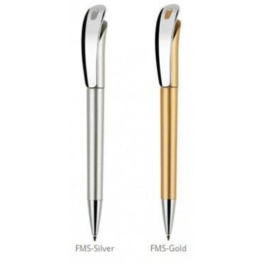 Długopis Focus Satin + Metal Clip