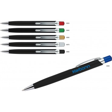 Długopis plastikowy z metalowym klipem Villain