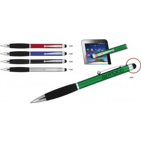 Długopis platikowy z metalowym klipem Izzie (touch pen)