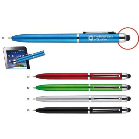 Długopis plastikowy z metalowym klipem Abu (touch pen)