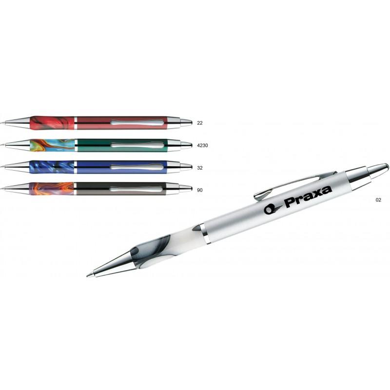 Metalowy długopis w ozdobnym opakowaniu Leova