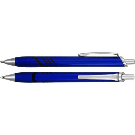 Długopis plastikowy z metalowymi dodatkami Juhani