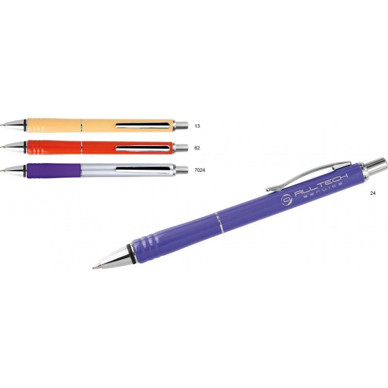 Długopis plastikowy z metalowymi dodatkami Konvent