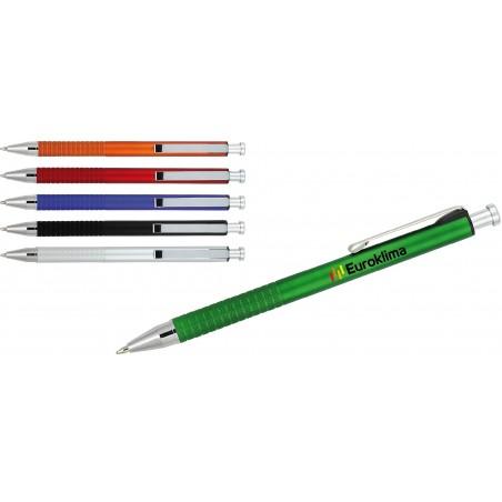 Długopis plastikowy z metalowymi dodatkami, w metalicznych kolorach Navah
