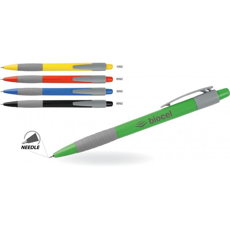 Długopis plastikowy z gumowym uchwytem Jolle
