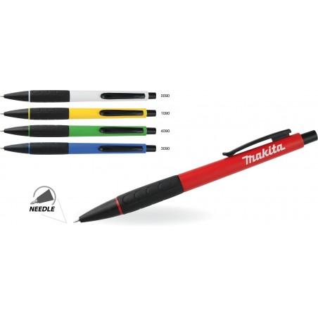 Długopis plastikowy z gumowym uchwytem Truxo