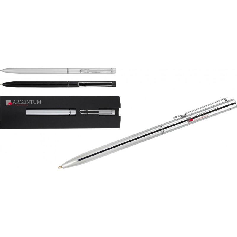 Długopis metalowy w eleganckim papierowym opakowaniu Balicor