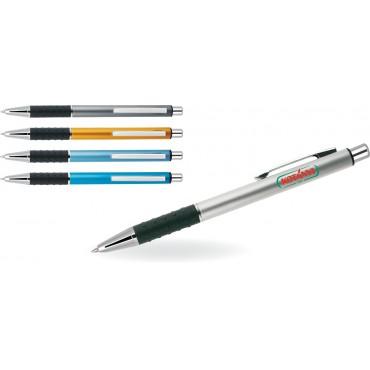 Długopis aluminiowy z gumowym uchwytem Lusar