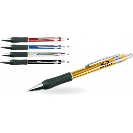 Długopis aluminiowy z gumowym uchwytem Arak