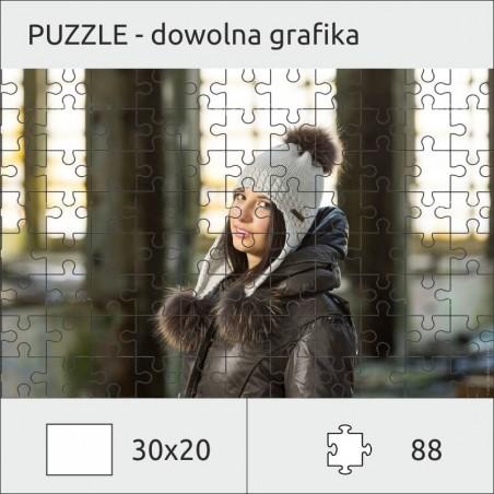 Foto puzzle ze zdjęciem 30 x 20cm (88 el.) - A4