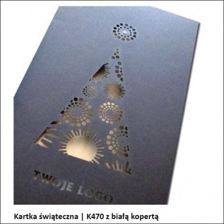 Kartka świąteczna | K470 z białą kopertą