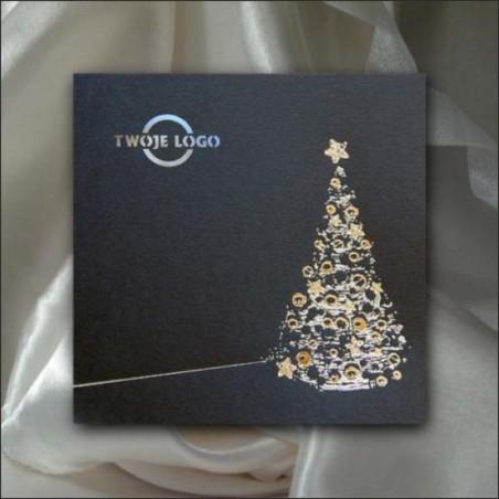 Kartka świąteczna - K523 z białą kopertą