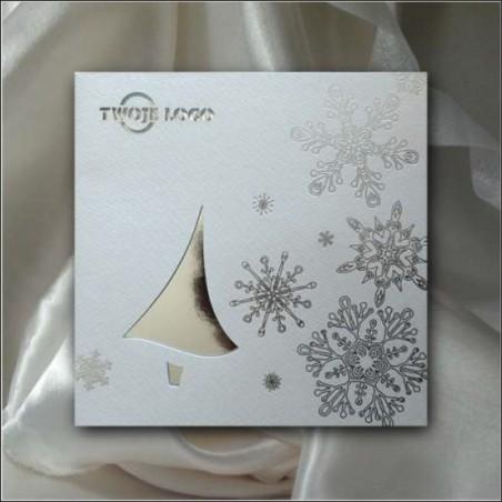 Kartka świąteczna-K516 z białą kopertą