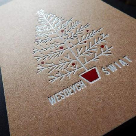 Kartka świąteczna - K529 z białą kopertą