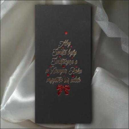 Kartka świąteczna - K546 z białą kopertą
