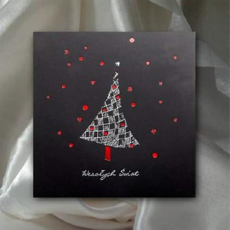 Kartka świąteczna - K521 z białą kopertą