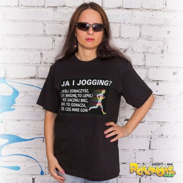 """""""Ja i jogging"""" UNISEX (T-shirt) bawełniana."""
