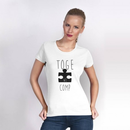 """Together we are complete"" dla niej - koszulka damska z tekstem."