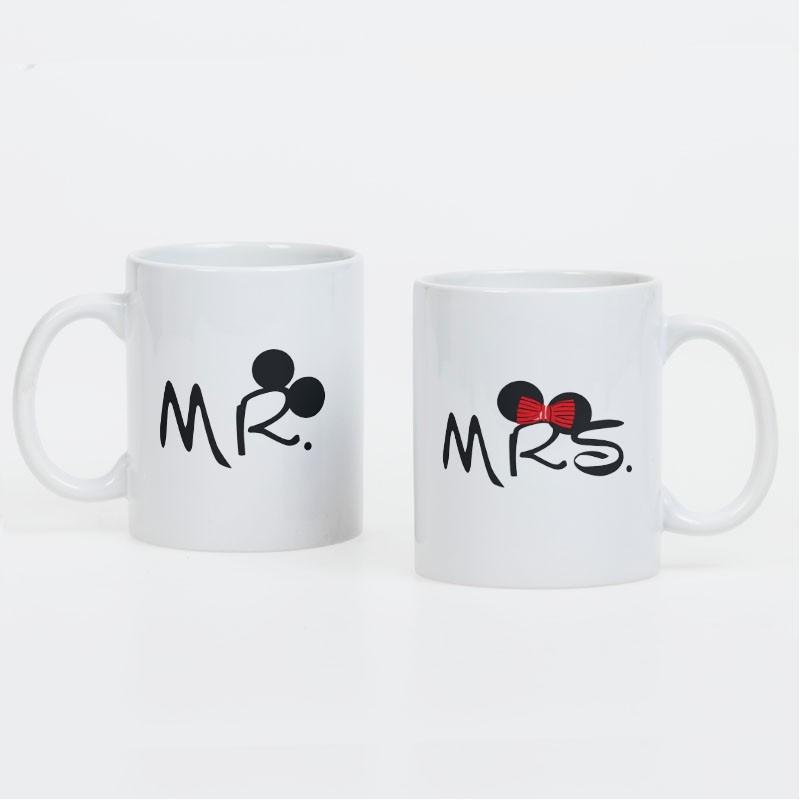 "Foto Kubki dla pary ""Mrs and Mr"" - kpl 2szt."