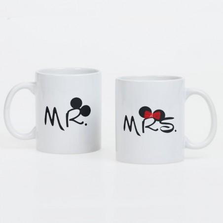 """Kubki dla pary """"Mrs and Mr"""" - kpl 2szt."""