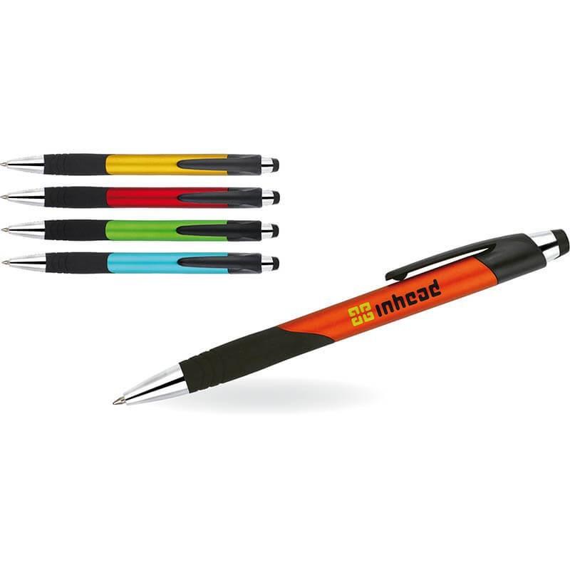 Długopis plastikowy z gumowym uchwytem Duera