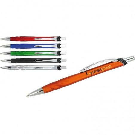 Nowoczesny długopis plastikowy z metalowym klipem, w metalicznych kolorach Anchor