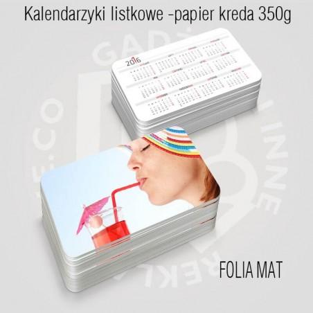 Kalendarz (kalendarzyk) listkowy z folią mat już od 100szt.