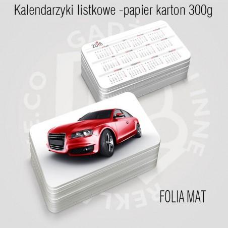 Kalendarz (kalendarzyk) listkowy KARTON 300g, z folią mat już od 100szt.