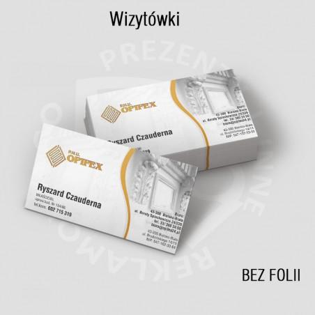 Wizytówki standard 2str., offset, od 250szt