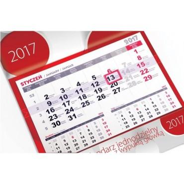 Kalendarz jednodzielny - wypukła (kaszerowana) główka