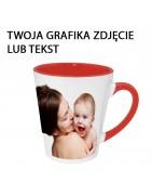 Kubki latte z własnym nadrukiem, białe i kolorowe, idealne na prezent.